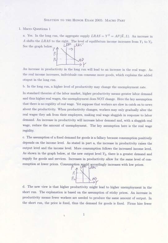 Undergraduate thesis economics